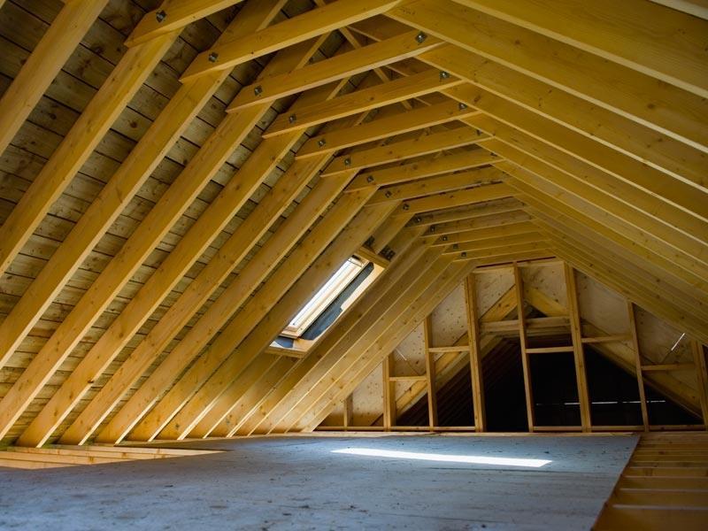 Montagefertige Dachstuhle Dachstuhle Holzbautechnik